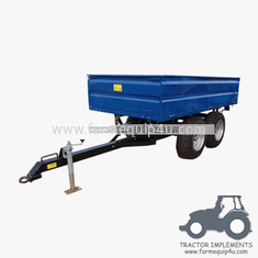 China 3TR4W - 4wheels small tractor trailer dump trailer with double axle 3Ton supplier