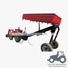 2wheels tipper 3way hydraulic dump trailer small farm trailer
